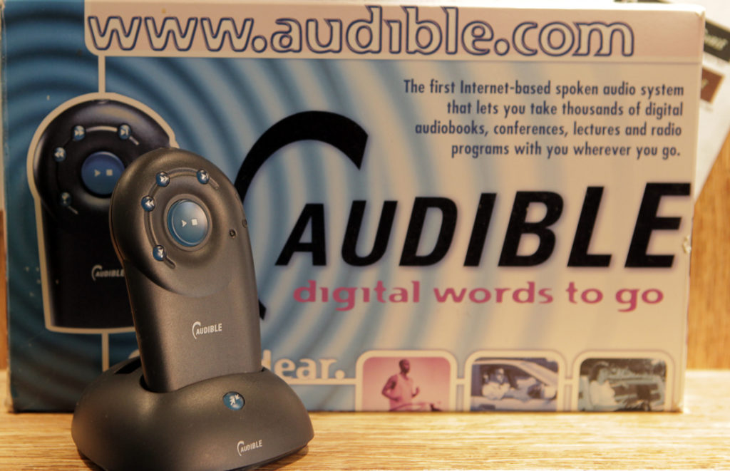dispositivo hardware di Audible per ascoltare audiolibri
